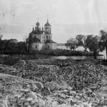 Церковь Сорокамучеников -вид с руин Введенской церкви