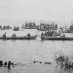Крестный ход по Трубежу в сторону озера на Пасху